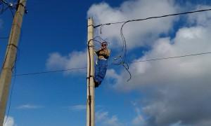 Монтаж точки соединения кабелей