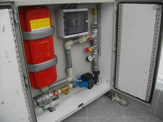 Пример установки нагревательного котла